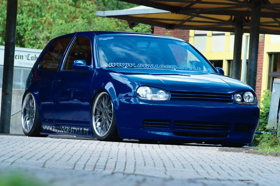 volkswagen golf 4 tuning. Cosmic Blue Volkswagen Golf IV