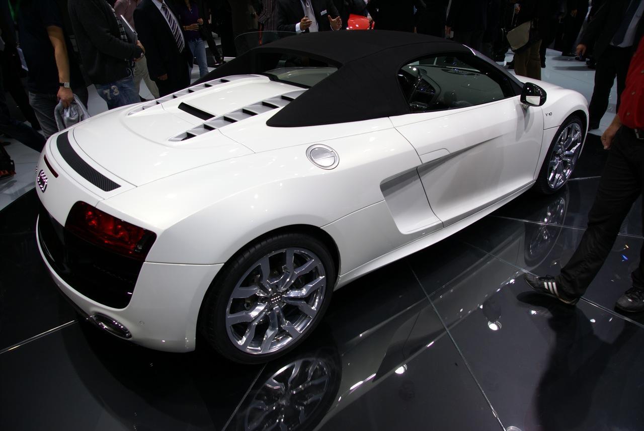 Audi R8 Spyder at Frankfurt