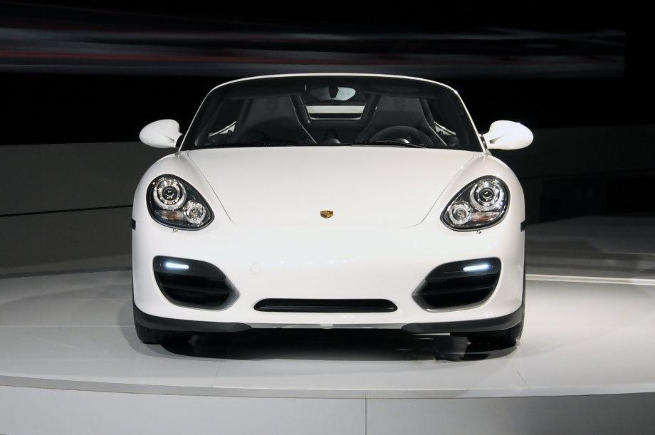 Debut for the new Porsche Boxster Spyder at LA 2009