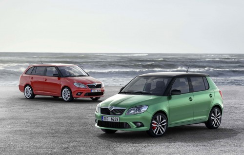 Skoda Fabia VRS Estate and Hatch were presented today at the Geneva Motor