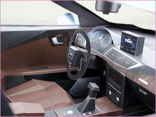 Paper Audi A7 by Taras Lesko